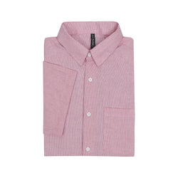 Stripe Slim Fit Short Sleeve Shirt - Pink