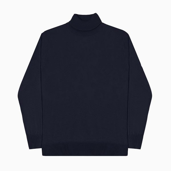 MEN KNIT TURTLENECK - NAVY