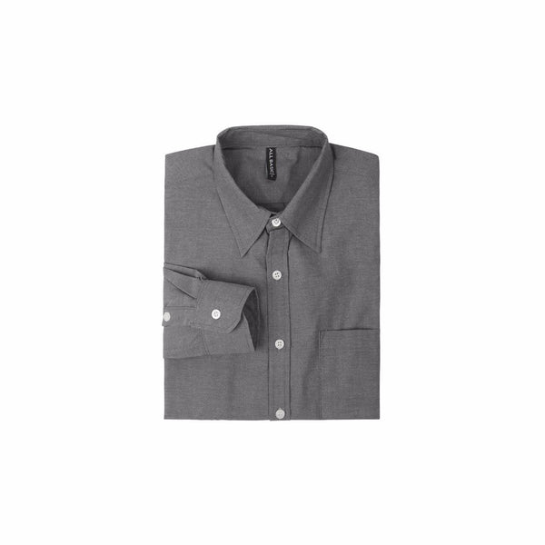 Oxford Long Sleeve Shirt - Dark Grey