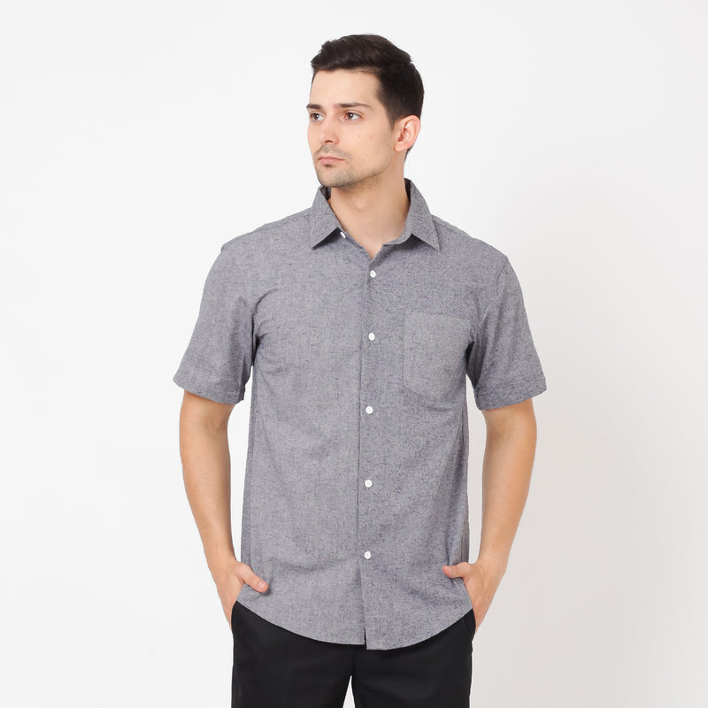 Toyobo Short Sleeve Shirt - Navy