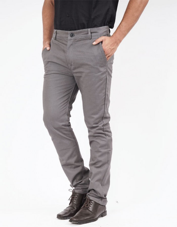 LONG CHINOS PANTS - GREY