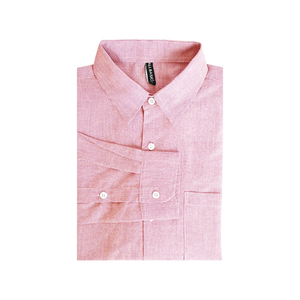 Stripe Slim Fit Long Sleeve Shirt - Pink