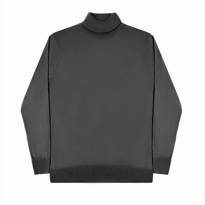 MEN KNIT TURTLENECK - DARK GREY