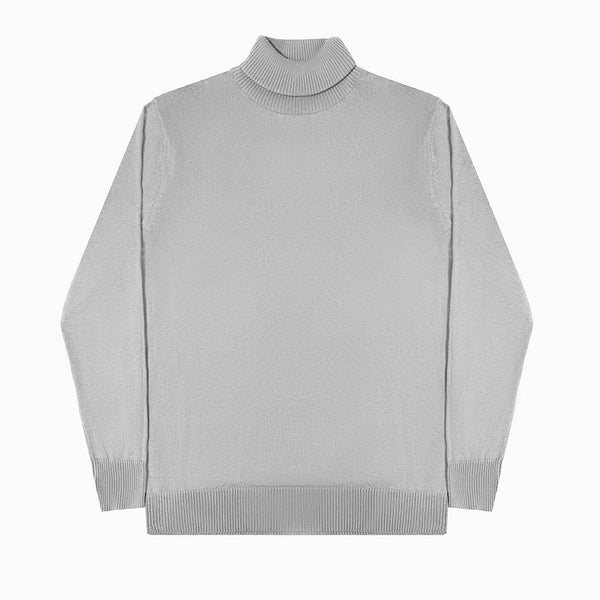 MEN KNIT TURTLENECK - MISTY