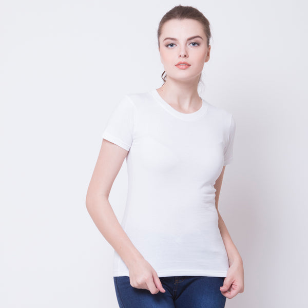 WOMEN BASIC TEES - WHITE