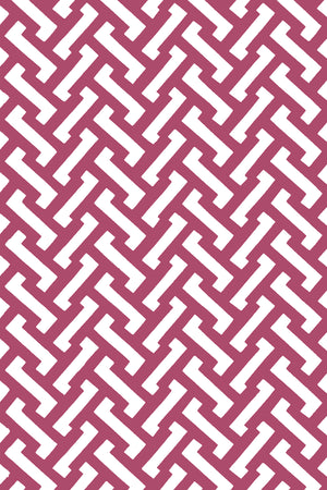 Small Zig Zag Cotton Fabric - Deep Pink