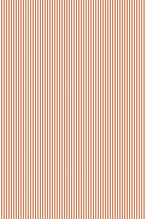 Double Quarter Inch Stripe Cotton Fabric - Burnt Orange