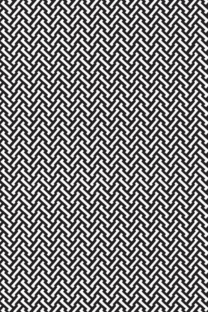 Small Zig Zag Cotton Fabric - Black