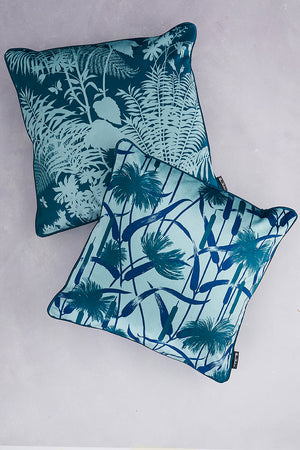 SAMPLE SALE - BUNDLE - Duet of Velvet Cushions - Forest Green & Pale Teal (25% Saving - Price is for 2 cushions)