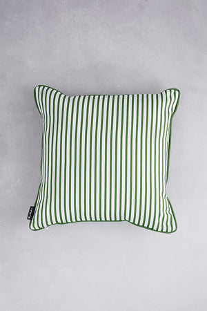 Small Zig Zag Cotton Cushion - Grass