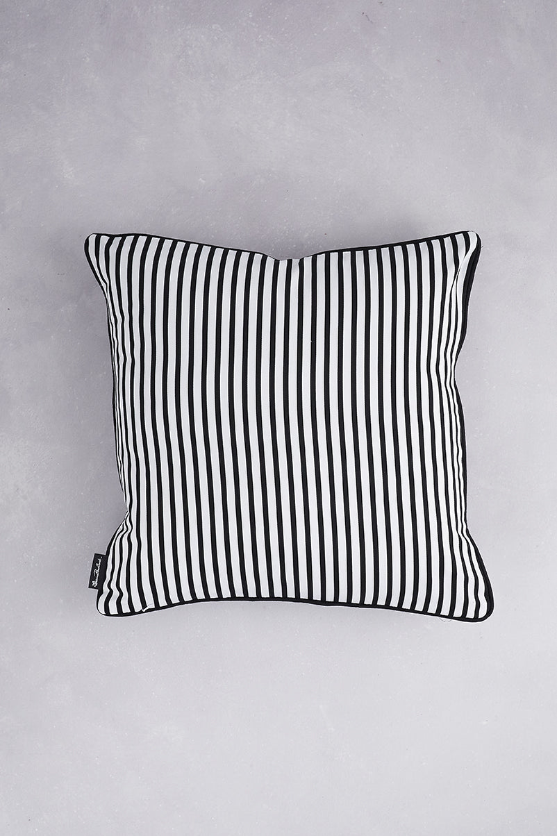 Duet of Cotton Cushions - Black