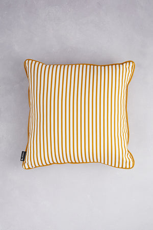 Small Zig Zag Cotton Cushion - Mustard