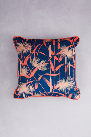 Papyrus Velvet Cushion - Navy
