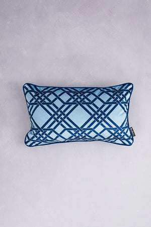 Pagoda Velvet Cushion - Baby Blue