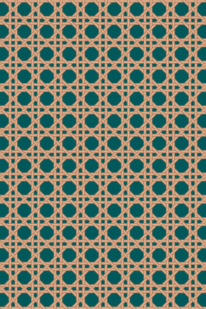 Octagonal Mini Lattice Velvet Fabric - Forest Green