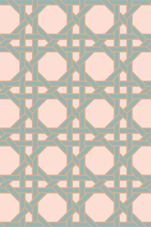 Octagonal Lattice Velvet Fabric - Blush