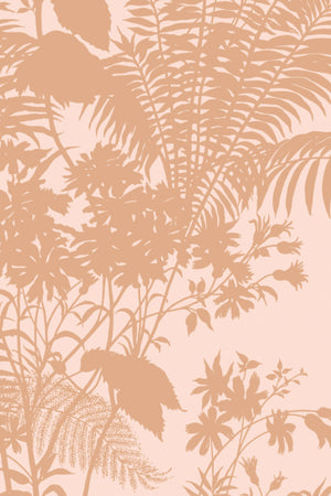 Shadow Floral Velvet Fabric - Blush