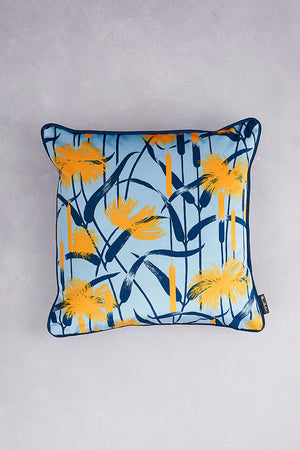 Papyrus Velvet Cushion - Baby Blue
