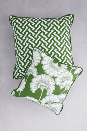 SAMPLE SALE - BUNDLE - Duet of Cotton Cushions - Grass (50% Saving - Price is for 2 cushions)