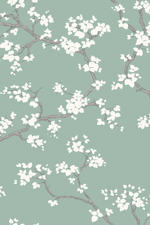 Branches Wallpaper - Mint