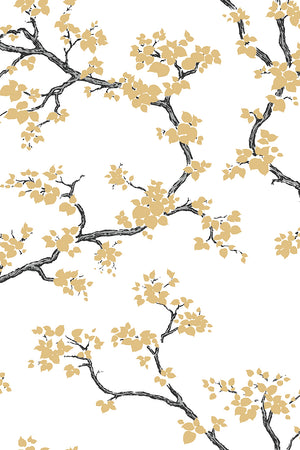 Branches Wallpaper - Gold