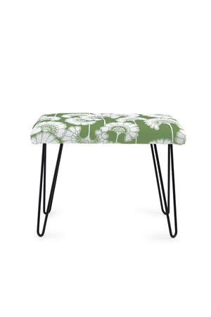 Japanese Floral Occasional Bench - Grass