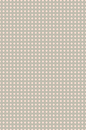 Octagonal Mini Lattice Velvet Fabric - Blush