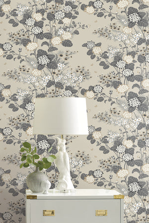 Chinese Floral Wallpaper - Biscuit
