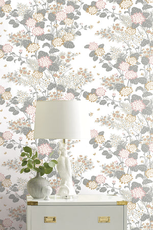 Chinese Floral Wallpaper - Pink