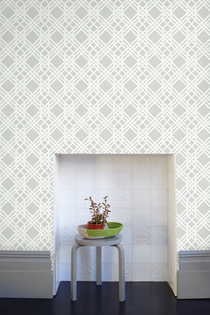 Pagoda Wallpaper - Warm Grey