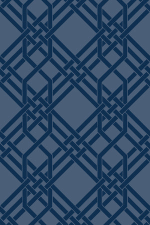 Pagoda Wallpaper - Blue