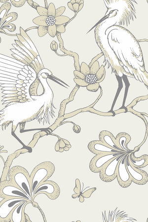 Egrets Wallpaper - Buttermilk