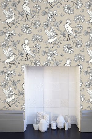 Egrets Wallpaper - Stone