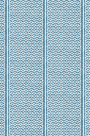 Japanese Panels Wallpaper - Blue