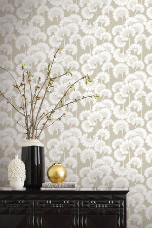 Japanese Floral Wallpaper - Bone