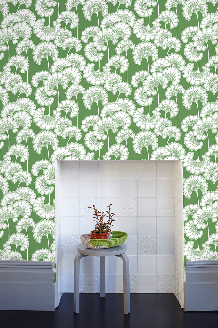 Japanese Floral Wallpaper - Grass