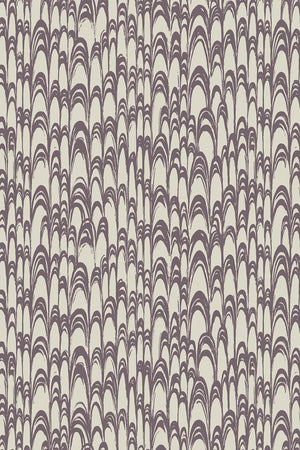 SAMPLE SALE - 1 ROLL Waterjet Wallpaper - Pewter & Aubergine (25% Saving)