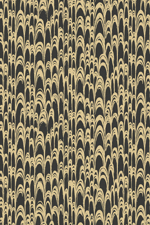 Waterjet Wallpaper - Black & Gold