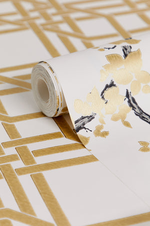 Pagoda Wallpaper - Gold