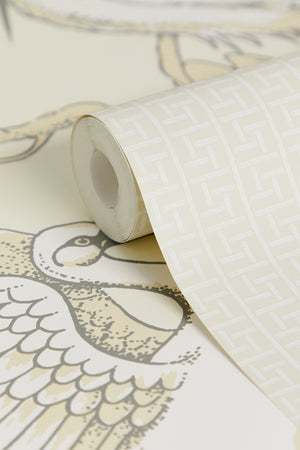 Oriental Filigree Wallpaper - Buttermilk