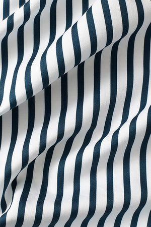 Double Quarter Inch Stripe Cotton Fabric - Navy