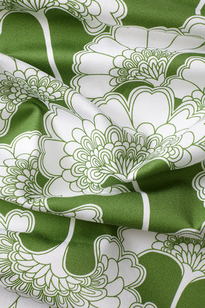 Japanese Floral Cotton Fabric - Grass