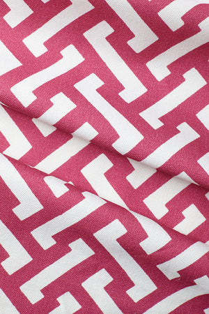 Zig Zag Cotton Fabric - Deep Pink