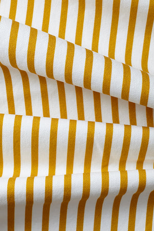 Double Quarter Inch Stripe Cotton Fabric - Mustard