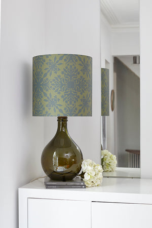 Geyson Table Lamp - Green with Green Clover Cane Shade - LOW STOCK