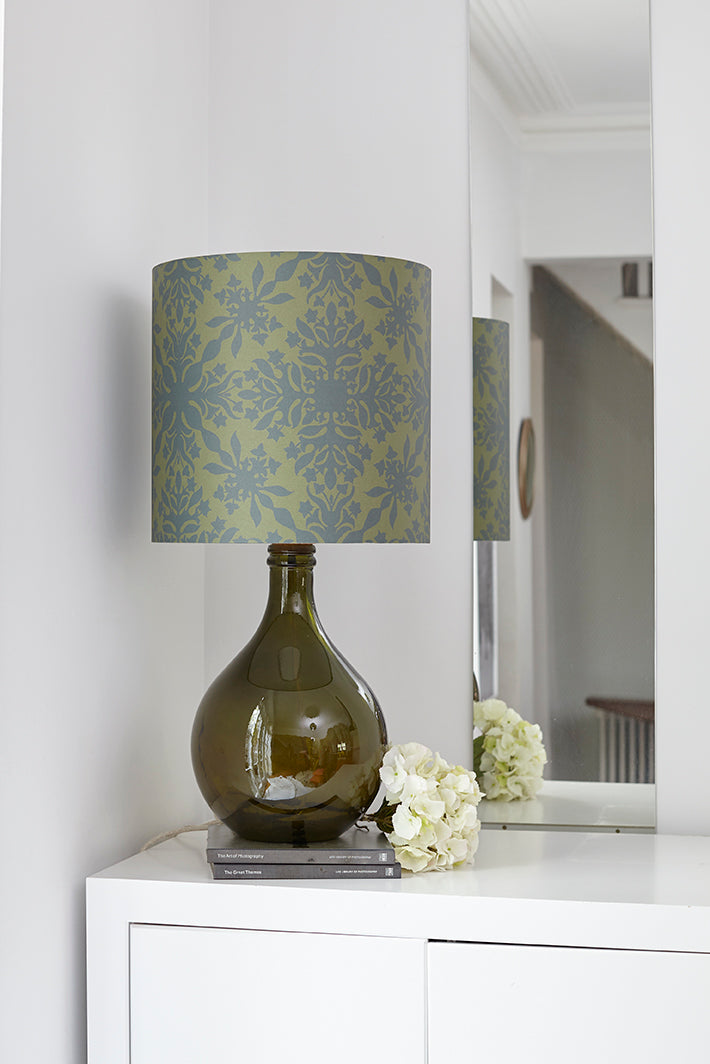 LAMPSHADE STOCK SALE - Geyson Table Lamp (shade only, with option to buy base) - Green Clover Cane (50% DISCOUNT)