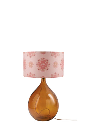 LAMPSHADE STOCK SALE - Fitzpatrick Floor Lamp (shade only, with option to buy base) - Pink Floral Spot (50% DISCOUNT)