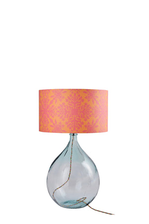 Fitzpatrick Floor Lamp - Clear with Orange Clover Cane Shade