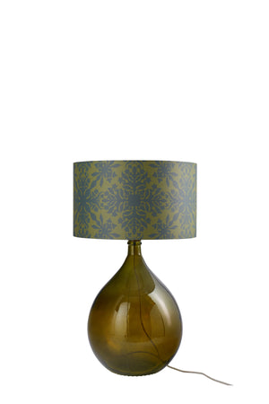 LAMPSHADE STOCK SALE - Fitzpatrick Floor Lamp (shade only, with option to buy base) - Green Clover Cane (50% DISCOUNT)