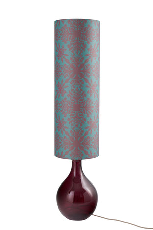 LAMPSHADE STOCK SALE - Bingle Lamp (shade only, with option to buy base) - Teal Clover Cane (50% DISCOUNT)
